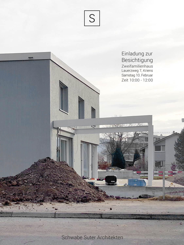 Besichtigung des zweifamilienhaus kriens schwabe suter for Fertig zweifamilienhaus