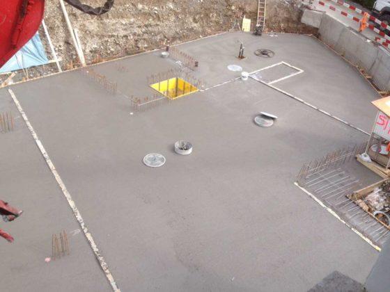 MFH im Caspärsch - Bodenplatte betoniert
