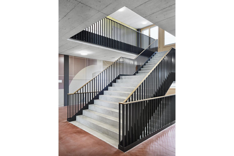 Neubau Sekundarschulhaus mit Dreifachsporthalle Lindau, Rothenburg Luzern, Damian Poffet
